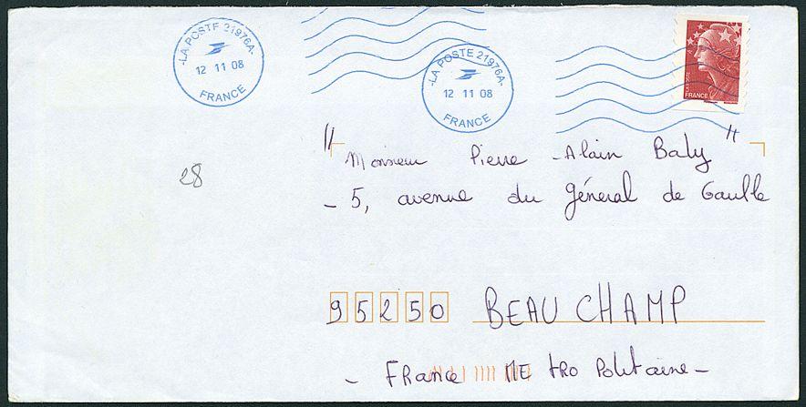 lettre timbre Oblitération mécanique provenant des machines NEOPOST avec timbre  lettre timbre